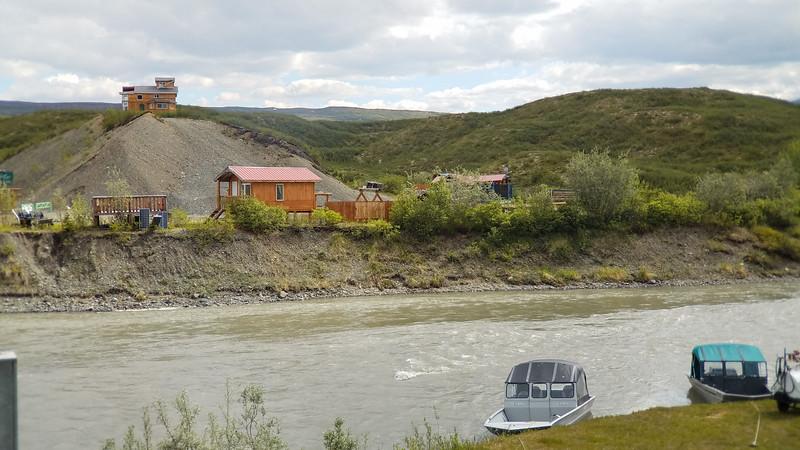 Scenery across from the Maclaren Lodge, on the Maclaren River, Gakona, Alaska.