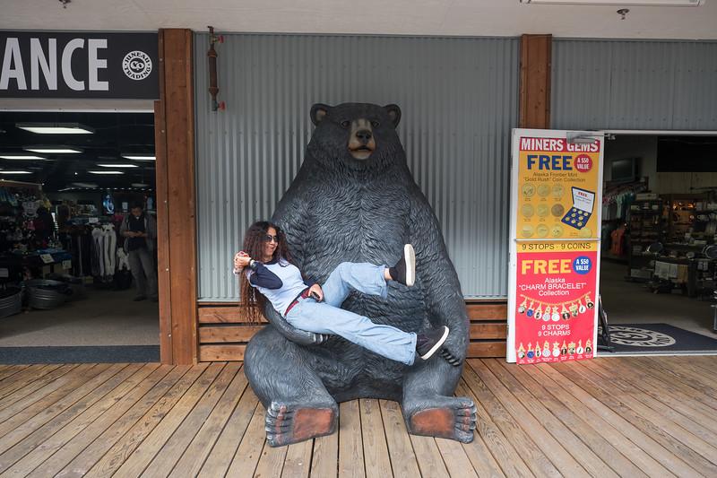 Pla BEARing it in downtown Juneau, Alaska.