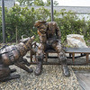 Commemorative statue for a miner and his dog in Skagway, Alaska.