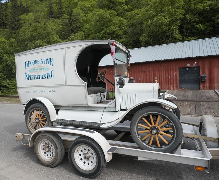 Classic cars in Skagway, Alaska.