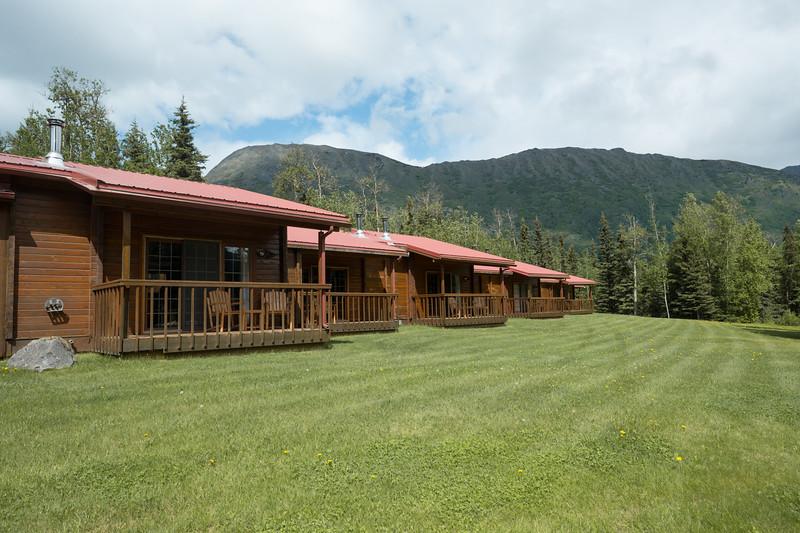 Individual Lodges at the Kenai Princess Wilderness Lodge, Alaska.