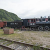 Old railroad engine on display in Skagway, Alaska.