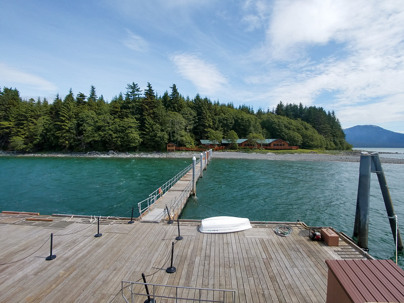 Colt Island lunch stop, touring by Catamaran and whale watching from Juneau, Alaska.