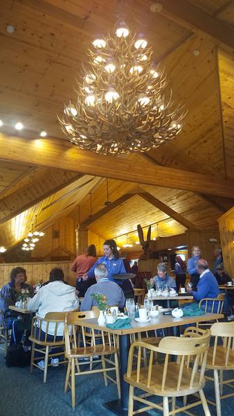 Breakfast at Eagle's Crest Resturant before leaving for Anchorage, Alaska.
