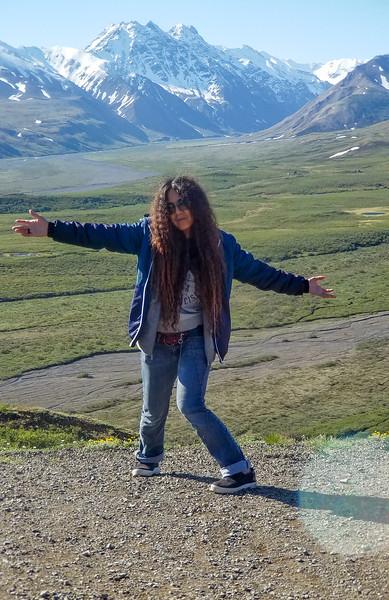 Free range tourist in Denali National Park, Alaska.