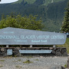 Mendenhall Glacier Visitor Center outside Juneau, Alaska.