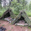 An Athabaskan Native shelter, Fairbanks, Alaska.