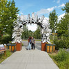 Here we are at the Interior Alaska Antler Arch in Fairbanlks, Alaska.