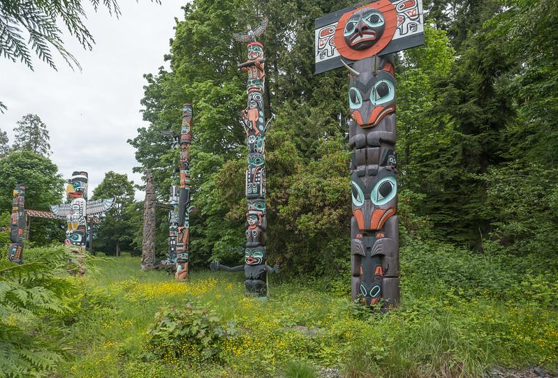 Totem Pole Field in Stanley Park, Vancouver, B.C.