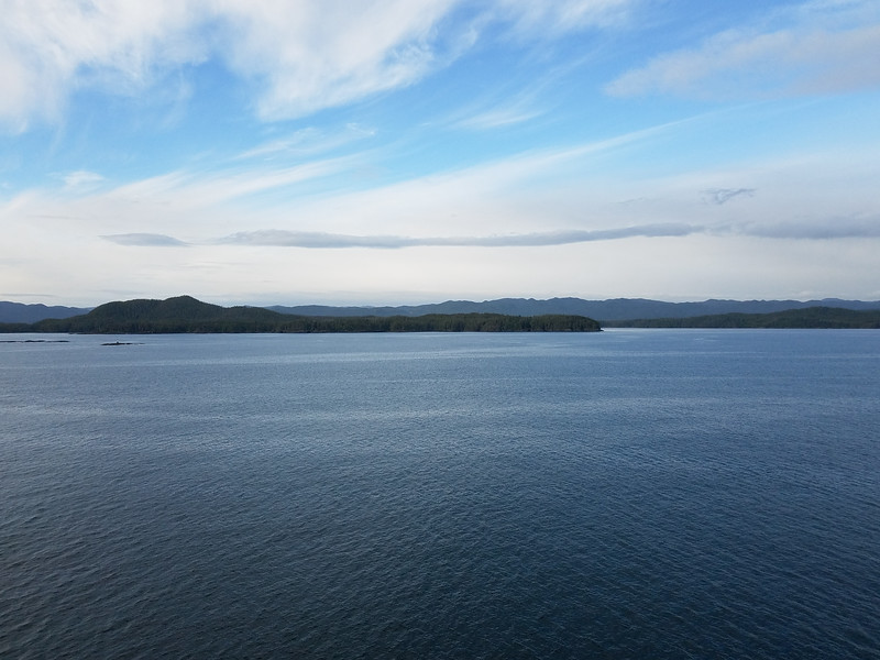 View of Alaska's waters from the Star Princess.