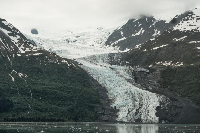 Yale Glacier on the east side of College Fjord, Alaska.