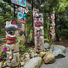 Totem Poles in the Capilano Suspension Bridge Park, Vancouver, B.C.