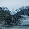 Huge glacial flows from miles deep in the mountains become Tidewater Glaciers in Glacier Bay National Park, Alaska.