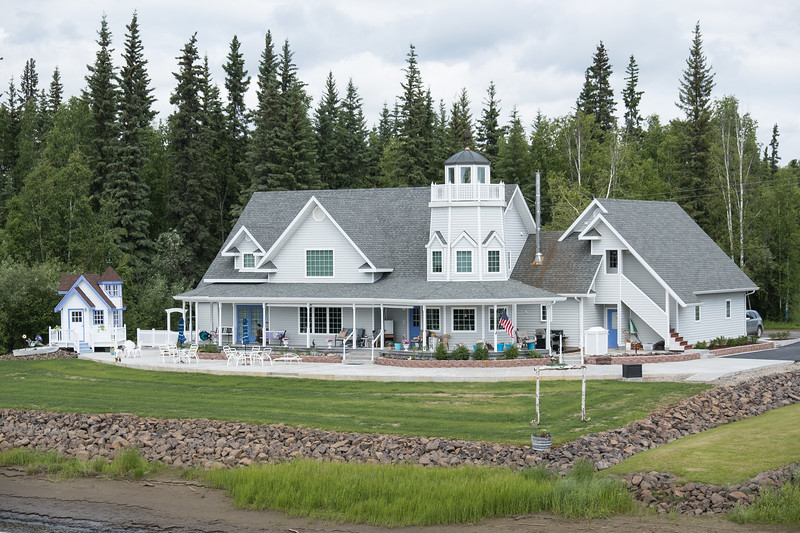 The house across from the Riverboat Discovery Dock, Fairbanks, Alaska.