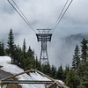 Riding the Cable Car back down Grouse Mountain, Vancouver, B.C.