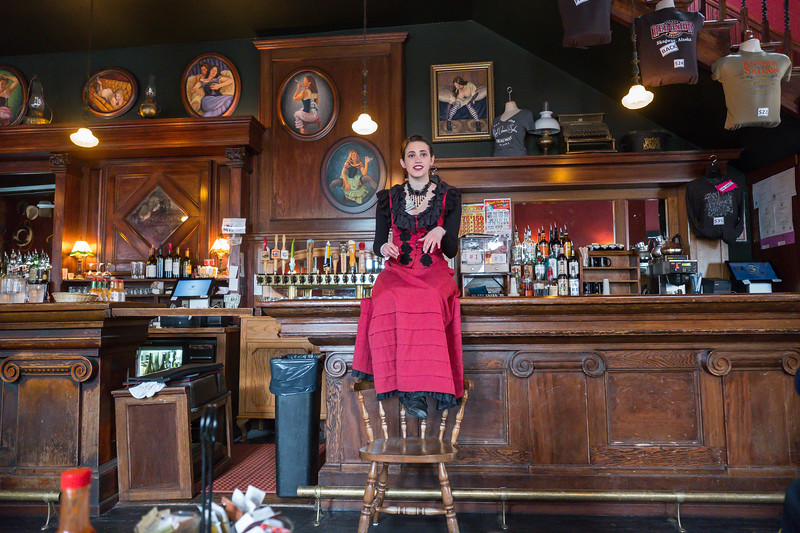 Our hostess at the Red Onion Saloon in Skagway, Alaska.