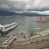 View of the cruise ship port from the Vancouver Lookout, Vancouver, B.C.
