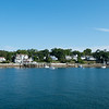 Arriving in Castine, Maine.