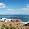 Panorama of Thunder Hole in Acadia National Park, Bar Harbor, Maine.