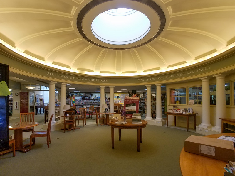 Inside the Camden Public Library.