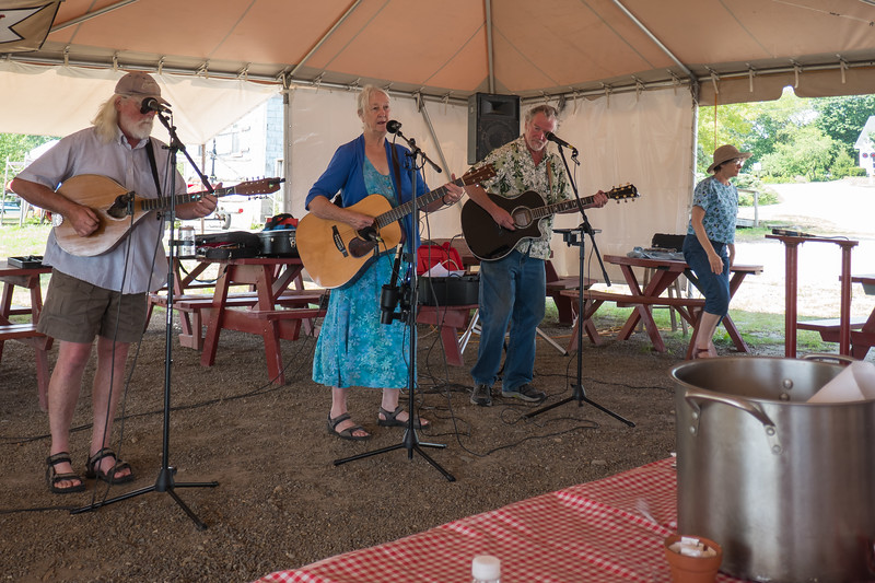 Entertainment at a Lobster Bake in Rockland, Maine.