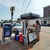 Street food seller in Portland, Maine.