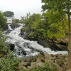 Camden, Maine town waterfall to the harbor.