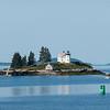 Pumpkin Island Lighthouse outside Castine, Maine.