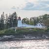 Burnt Island Lighthouse outside Boothbay Harbor, Maine.