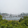 Camden Maine Harbor in the mist.