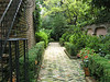 Private home garden areas in Charleston's Historic District.