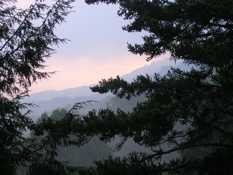 View of the mountains from the Blue Ridge Parkway.