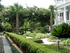 Beautiful gardens at a classic Historic Charleston period home.
