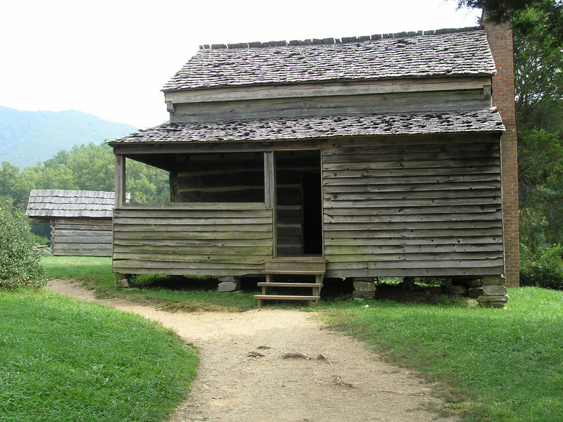 A settler's family cabin in Cades Cove, NC.