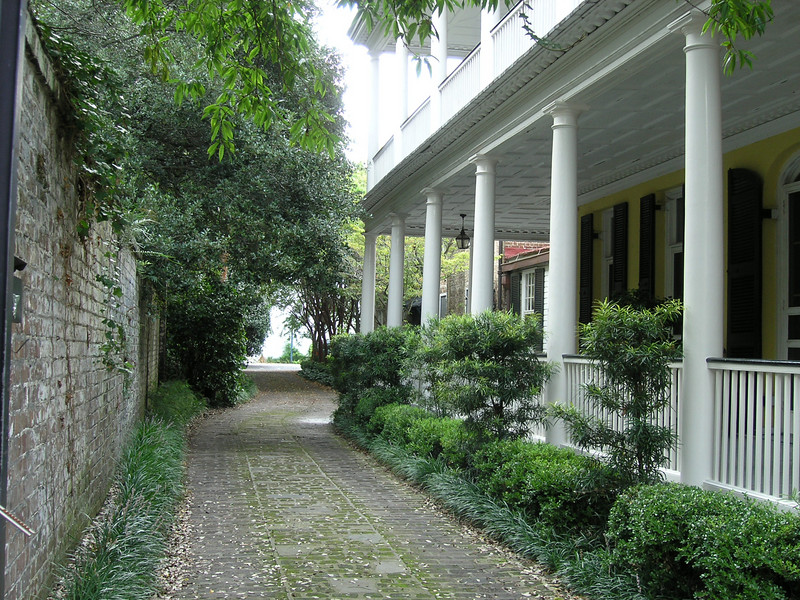 Private courtyards in the Charleston's Historic District.