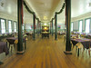 Dining room of the Historic Balsam Mountain Inn.