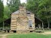A settler's cabin home in Cades Cove, NC.