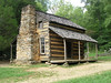 Settler cabin from the late 1800's in Cades Cove.