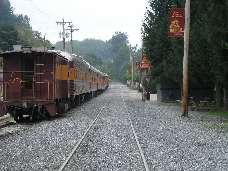 The Smoky Mountain Railroad at a Depot in Dillsboro, NC.