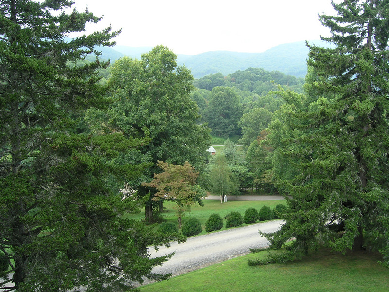 View from the porch of the Balsam Mountain Inn, Smoky Mountains, NC.