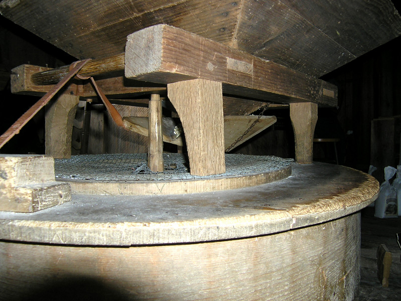The mechanism of a historic mill in Cades Cove, Western NC.