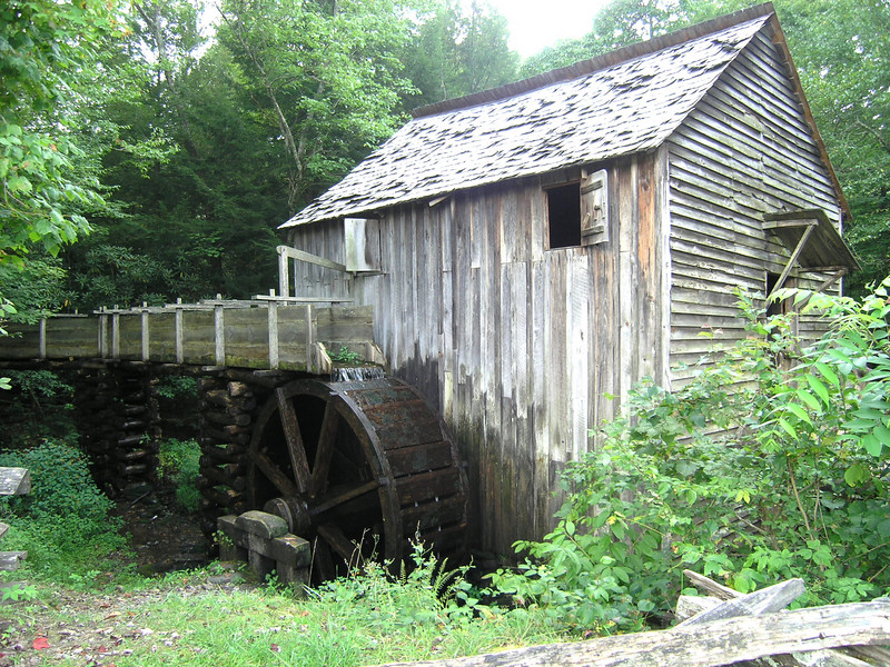 A water powered mill in Cades Cove, NC.