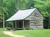 An early settler's cabin inside Cades Cove, NC. Circa late 1880's.