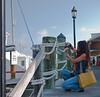 Tourist at the Key West docks.