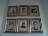 Photos on the wall at Ernest Hemingway's key West home.