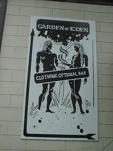 Garden of Eden Clothing Optional Bar in Key West, Florida.