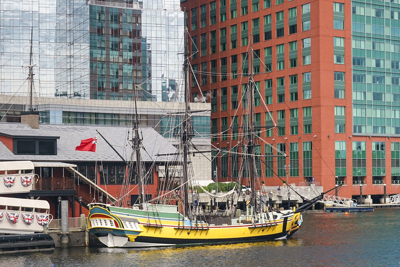 Historical Ship in the Port of Boston, Boston Mass. USA.