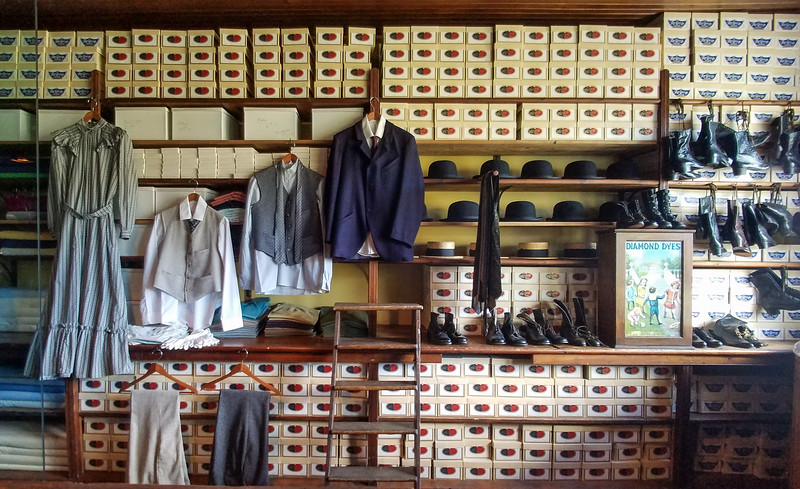 Inside the Wm. Hyman Store in Forillion National Park, Gaspe, Quebec, Canada.