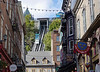 The Funicular from the Old City Shopping District, Quebec, Canada.