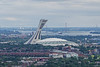 1967 Olympic Stadium and it's leaning Observation Tower in Montreal, Quebec, Canada.